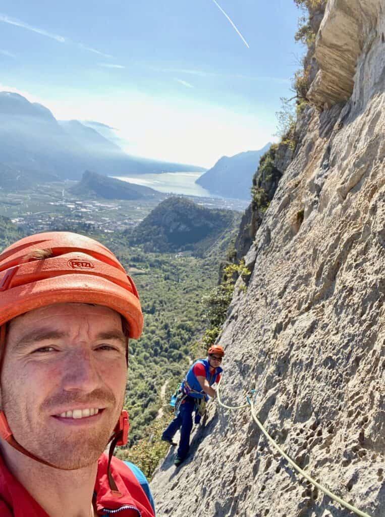 Franz Trimmel klettert in Arco Ego Trip